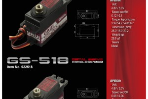 511 & 518 digital servo