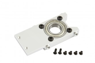 073202-CNC Main Shaft Middle Bearing Mount (Silver anodized)