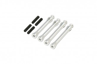X5 Canopy Posts(Silver anodized)(39.5mm)x2 (42.5mm)x2