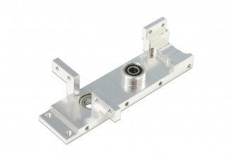 X5 CNC Lower Servo Mount (Silver anodized)
