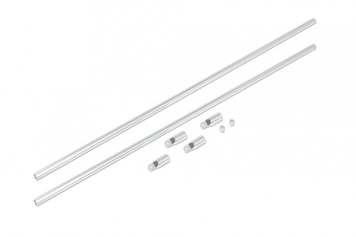 X5 CNC Tail Boom Support Set(Silver anodized)