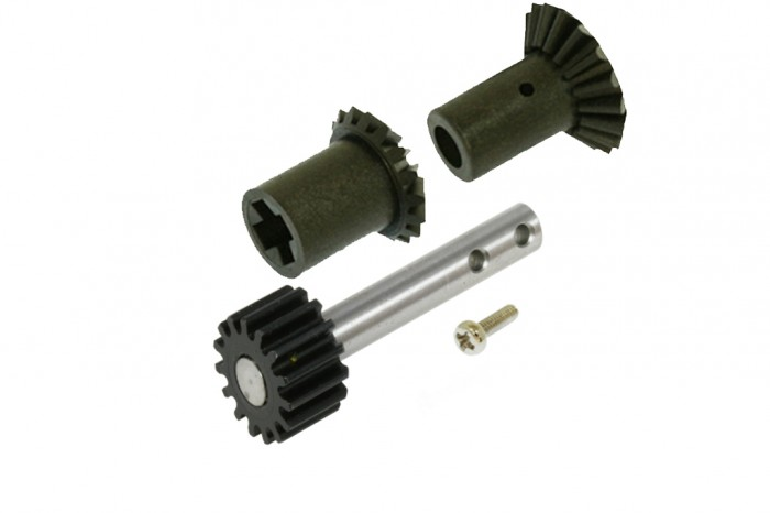 Front drive gear set and Pulley Shaft with Steel Gear (15T)