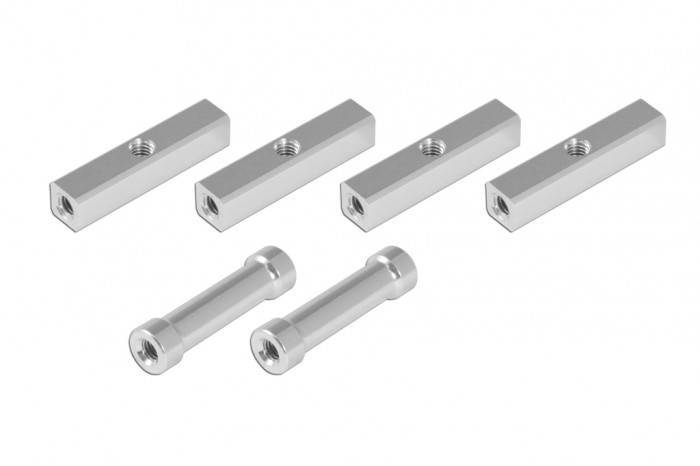 Alu Square Post with 3mm thread hole and Round Post