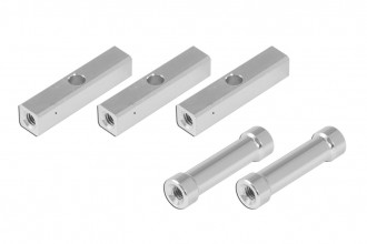 Alu Square Post with 3mm middle hole (5x5x23.5mm) and Round Post (3x4.8x23.5mm)