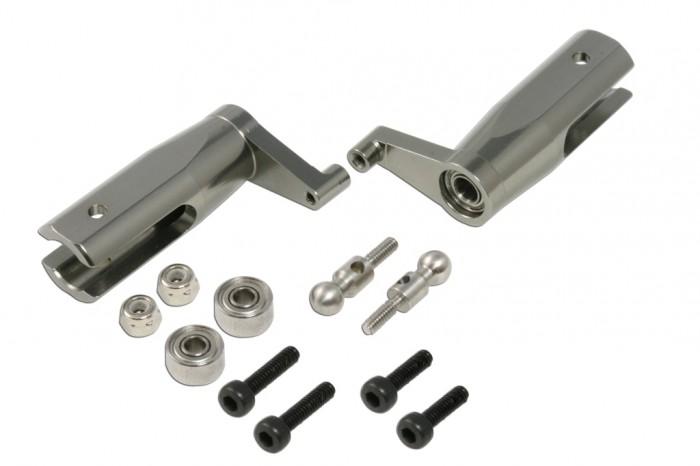 X2 CNC New FES Main Grips set for H255(Titanium anodized)