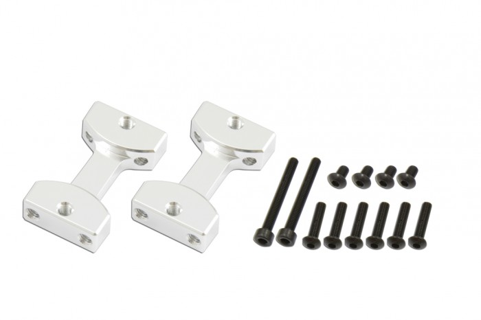 X7 CNC Landing Gear Mount (Silver anodized)