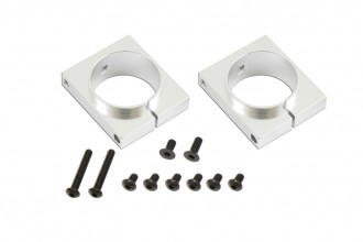 X7 CNC Tail Boom Clamp (Silver anodized)