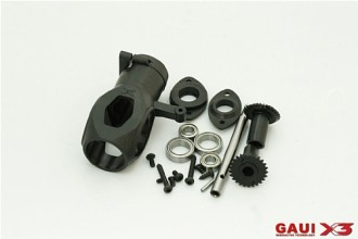 X3 Tail Case Assembly (with gears)