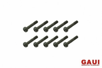Semi-threaded Socket Head Cap Screw - Black (M2x10)x10