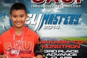 Sakkarin Kongthon  Compact Dude 3rd Place Advance Class Heli Master 2014