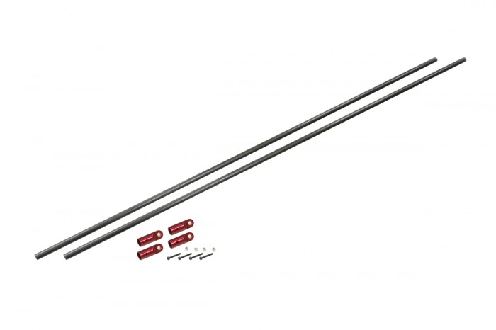 076207-CF Tail Boom Support Rod Set (Red anodized)(for NX7)