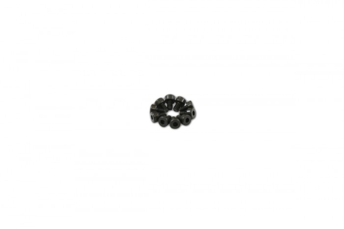 0R1203-Socket Head Cap Screw - Black (M2x3)x10pcs