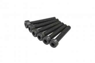 0R1425-Socket Head Cap Screw - Black (M4x25)x6pcs