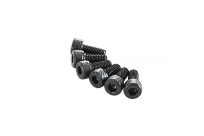 0R1512-Socket Head Cap Screw - Black (M5x12)x6pcs