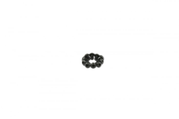 0R2203-Socket Head Button Screw - Black (M2x3)x10pcs