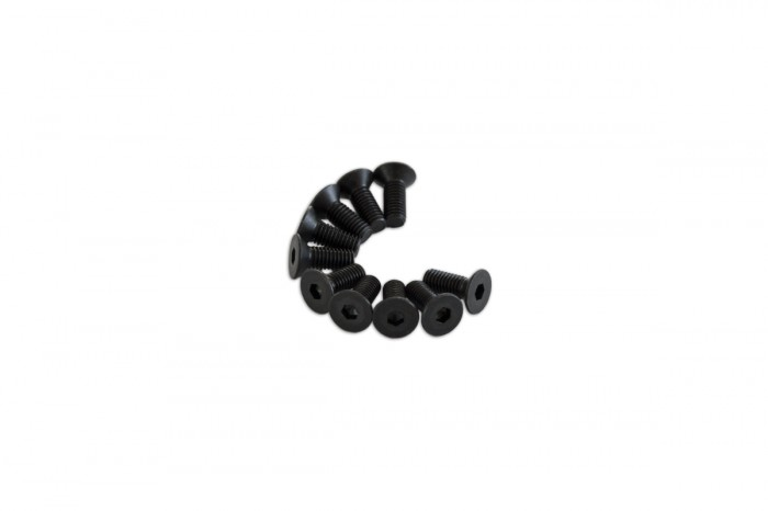 0R3308-Socket Countersunk Screw - Black (M3x8)x10pcs