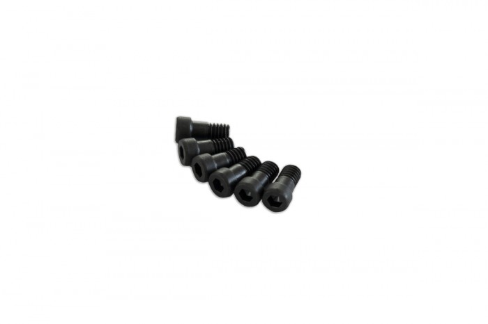 0R7408-Semi-threaded Socket Head Cap Screw - Black (M4x8)x6pcs