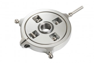 051255-CNC Swashplate (Silver anodized)(for R5)