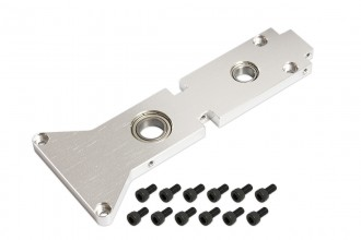 053252-CNC Main Shaft Middle Bearing Mount (Silver anodized)(for R5)