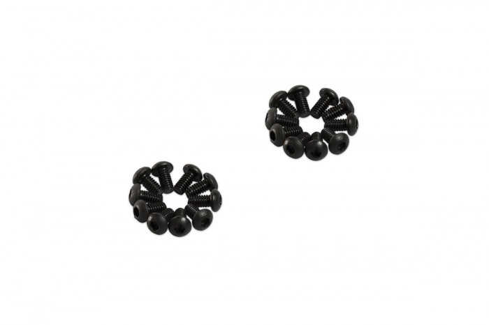 0R2204-Socket Head Button Screw - Black (M2x4)x20pcs