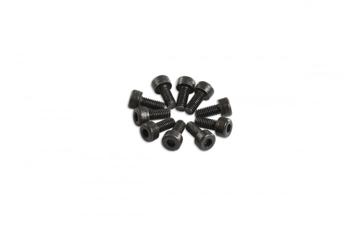 0R7206-Socket Head Cap Screw - Black (M2.6x6)x10pcs