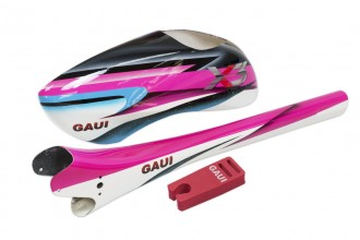 037121-Type A6 Canopy+Tail Boom in Star light pink(for X3)