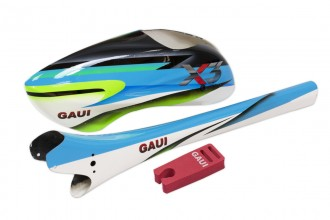 037122-Type A7 Canopy+Tail Boom in star light blue(for X3)