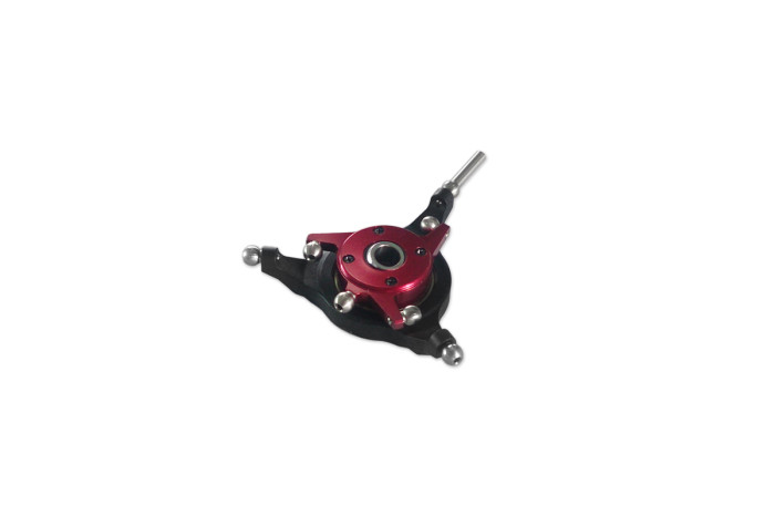 032209-CNC 3 Blades Swashplate Set Red anodized(for X3)