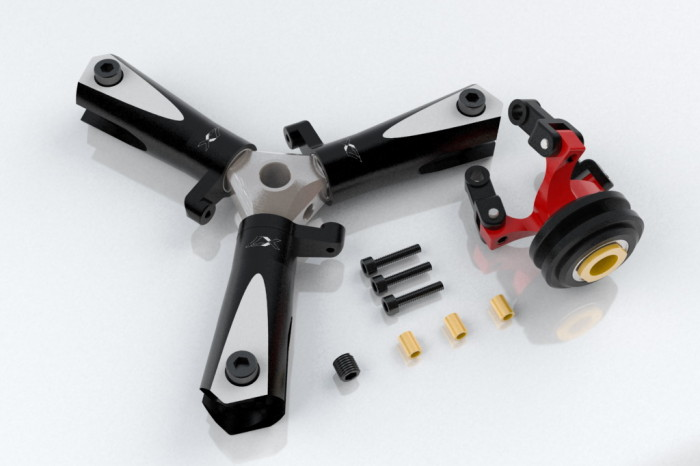 076601-CNC 3 Blades Tail Rotor Head Ass'y(for X7.NX7)